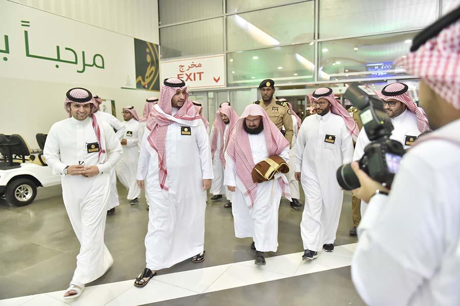 الأمير تركي بن محمد بن فهد مع الشيخ السديس في معرض روح القيادة
