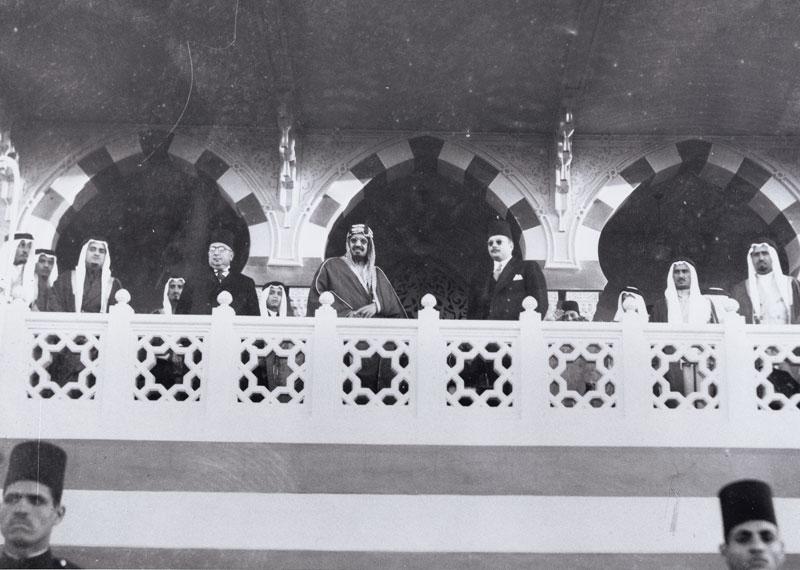الملك فهد والملك فاروق