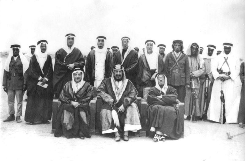 الملك فهد والملك عبد العزيز
