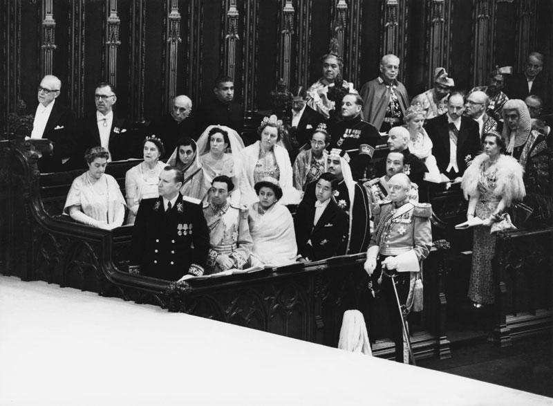 الملك فهد والملكة إليزابيث