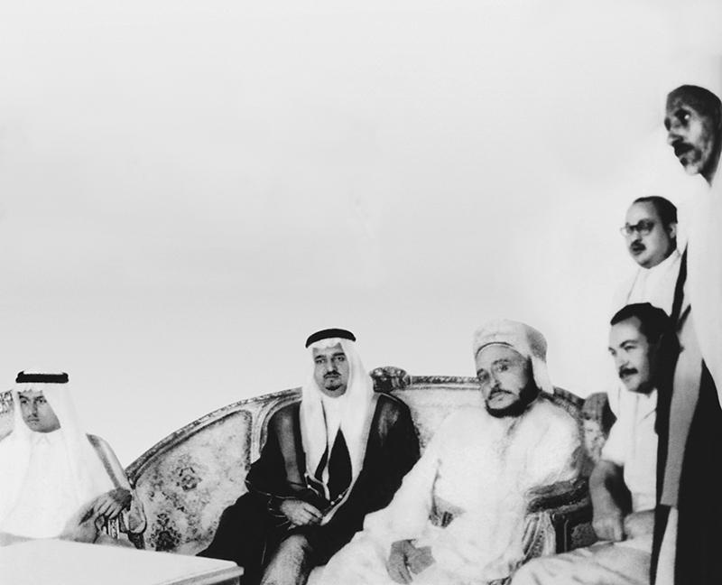 الملك فهد وإمام اليمن