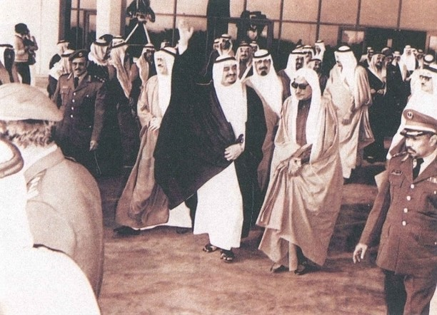 الفهد في عام 1392هـ/1972م أثناء حفل جامعة الملك سعود بمناسبة مرور 15 عاماً على إنشائها