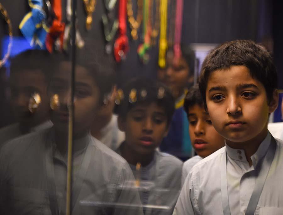 6000 طفل يتفاعلون مع فعاليات معرض «الفهد .. روح القيادة» بجدة